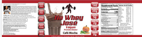 NEW FLAVOR: DeFranco's No Whey Jose - Mocha