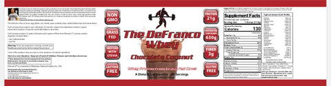 NEW FLAVOR: DeFranco's Whey - Chocolate Coconut