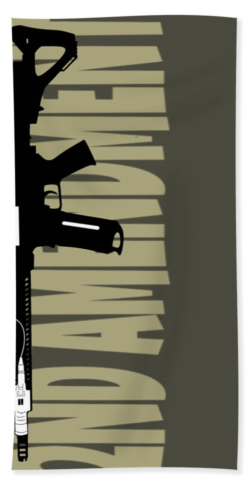 Beach Towels Artistic Graphic | 2A Raven V - .223 Digital Art