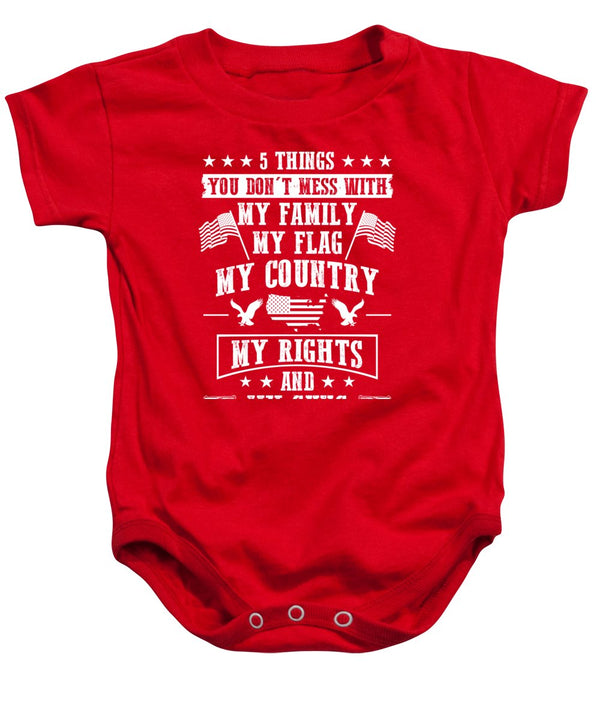 5 Things - Baby Onesie - .223 Digital Art