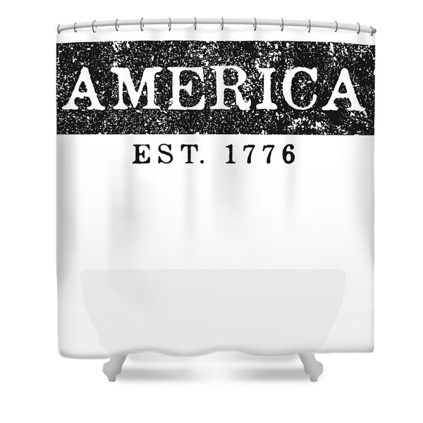America 1776 - Shower Curtain - .223 Digital Art