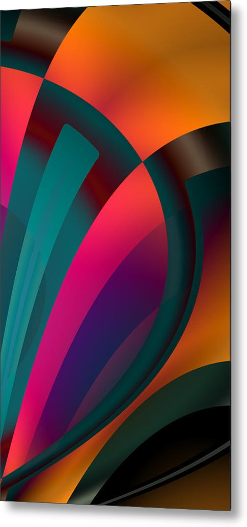 Colors Collide  - Metal Print - .223 Digital Art