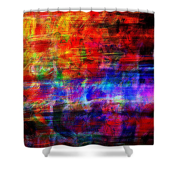 Combustion - Shower Curtain - .223 Digital Art