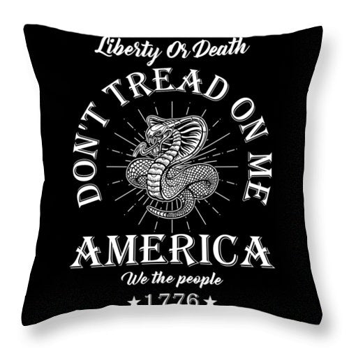 Don't Tread On Me - Throw Pillow - .223 Digital Art