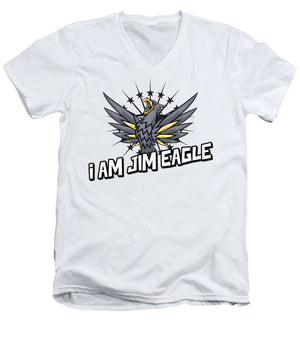Jim Eagle - Men's V-Neck T-Shirt - .223 Digital Art
