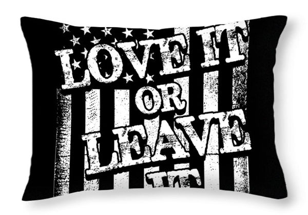 Love or Leave - Throw Pillow - .223 Digital Art
