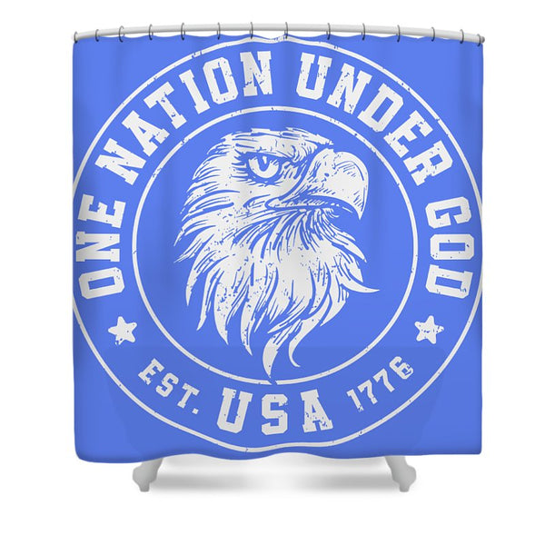 One Nation - Shower Curtain - .223 Digital Art