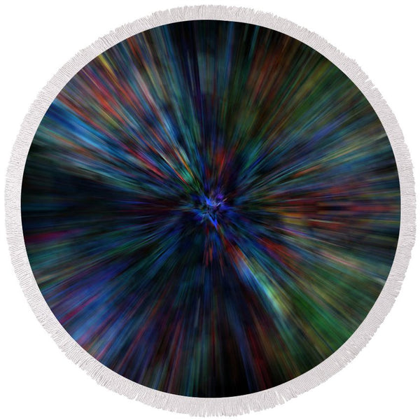 Paint Flare - Round Beach Towel - .223 Digital Art