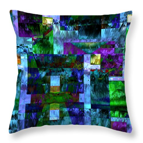 Radiation Alley - Throw Pillow - .223 Digital Art