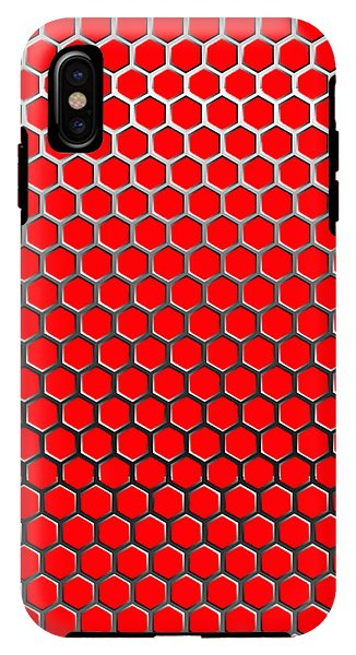 Cell Phone Case Protector | Red Hex Design - .223 Digital Art