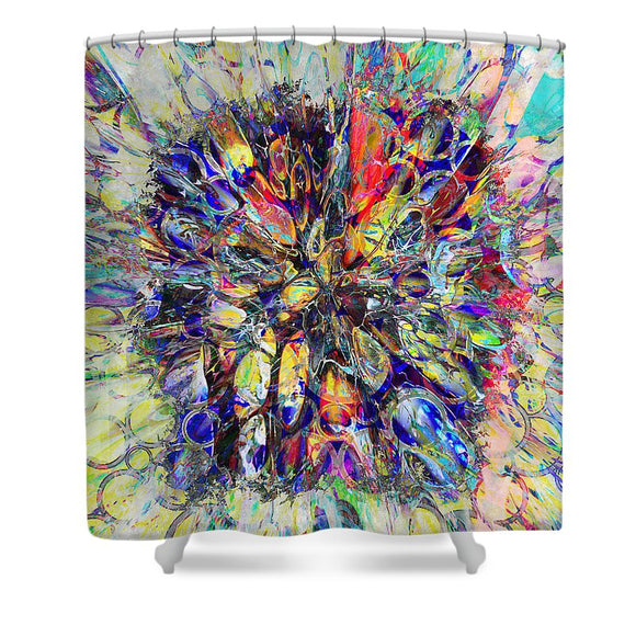 Shower Curtain Colorful Liner-  Stones