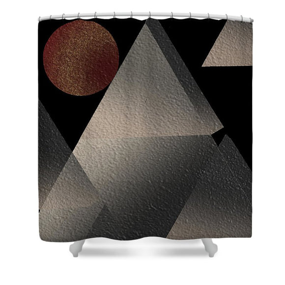 The Temple - Shower Curtain - .223 Digital Art