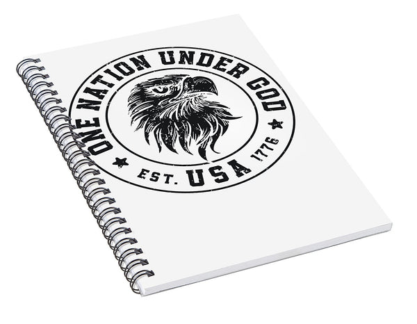 Under God - Spiral Notebook - .223 Digital Art