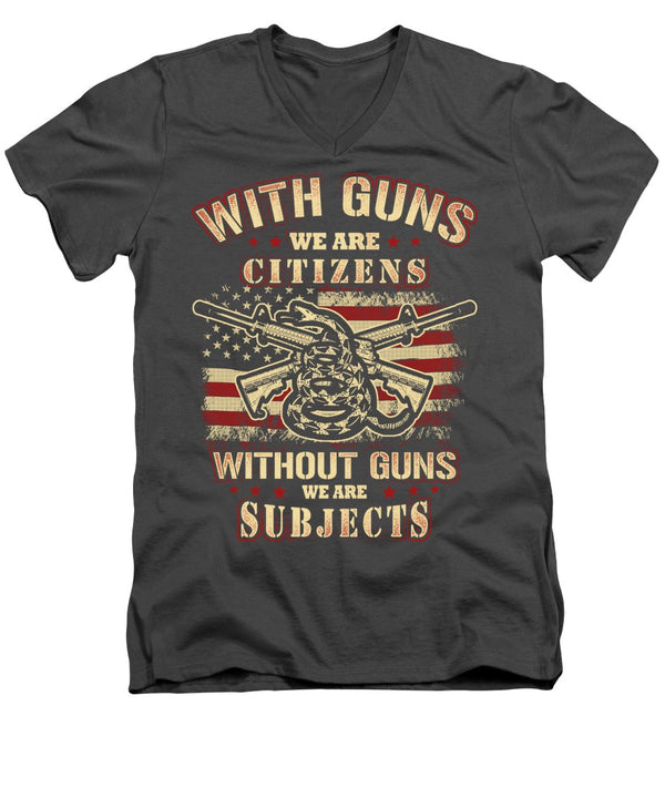 We Are Citizens - Men's V-Neck T-Shirt - .223 Digital Art