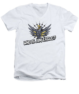 Who Is Jim Eagle - Men's V-Neck T-Shirt - .223 Digital Art