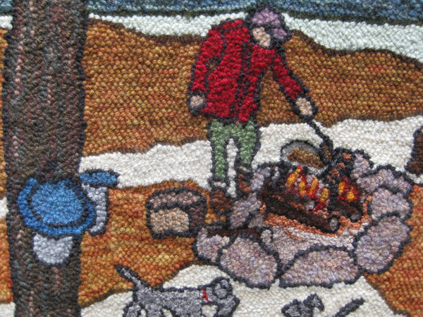 Margaret Mitchell rug detail.
