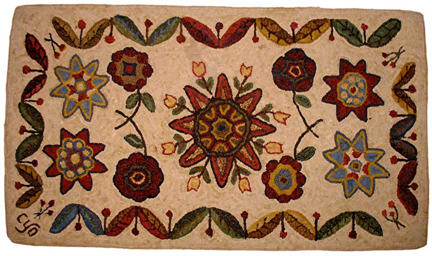 Star Flower Rug, by Celia Oliver