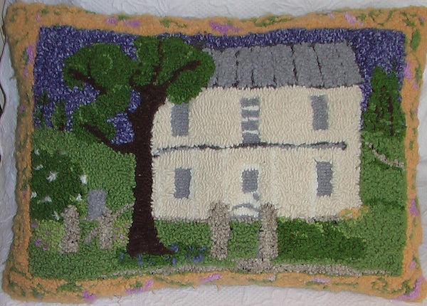 Grandma's House Pillow. Designed and punched by Nancy Reams, Chippewa Falls, Wisconsin.