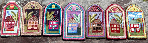 A selection of Oxford Cottage mats made by students