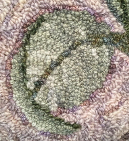 Close-up of leaf in Jacobean Floral mat