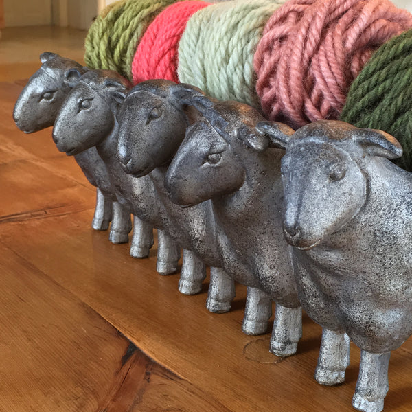 Sheep Planter With Yarn