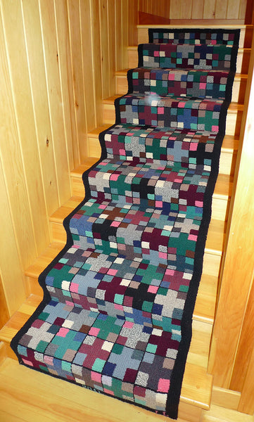 Stair Runner. Designed and punched by Lynda Latner, Toronto, Ontario, Canada.