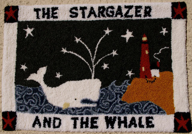 The Stargazer and the Whale. Designed and punched by Patsye Thompson, St. Augustine, Florida.