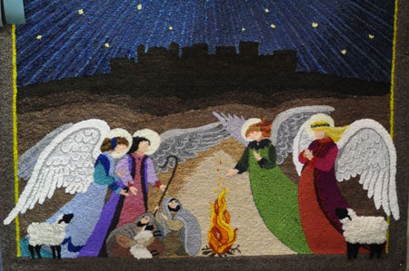 Detail of Angels Announcing the Birth of Christ