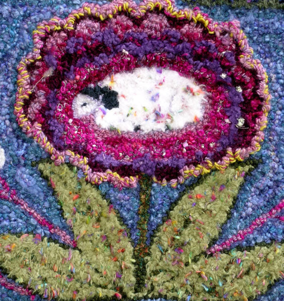 Detail from Sheep Flower Rug.