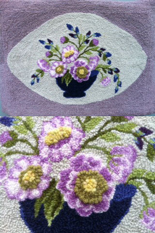 Purple flowers rug - and detail