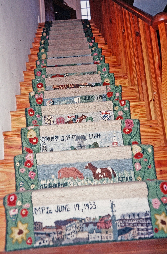 Looking up at the Custom Stair Runner