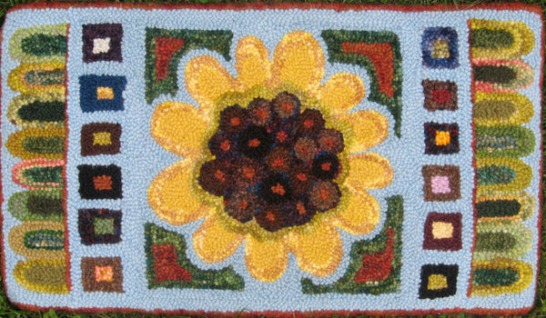 Sunflower Pennyrug. Designed by DonnaSue Shaw, Primitive Grace