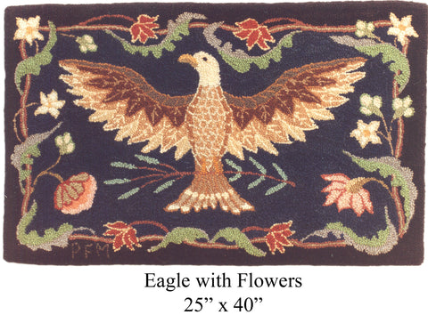 Eagle with Flowers