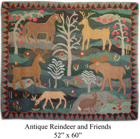 Antique Reindeer and Friends