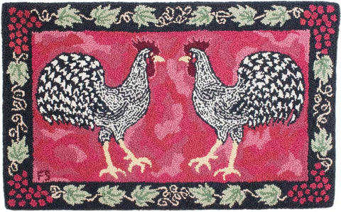 Double Dominique Roosters Pattern
