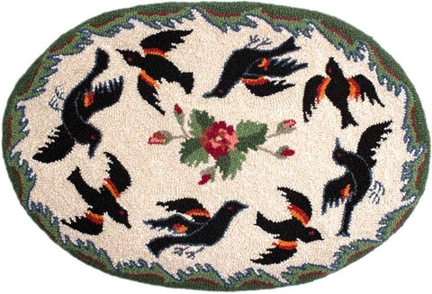 Oval Blackbirds Pattern