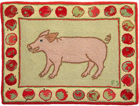 Piglet with Apples Pattern