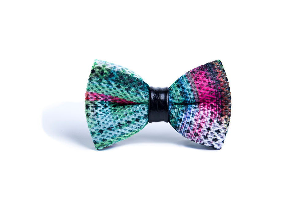 Neoprene leather ring bow tie - Exorphe Collection - 1