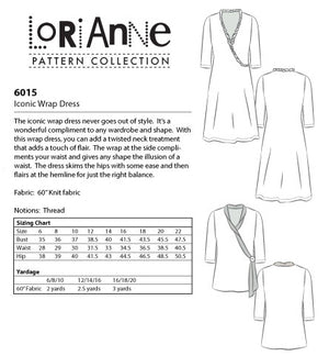 LORIANNE PATTERNS 6015 - ICONIC WRAP DRESS (PRINTED)
