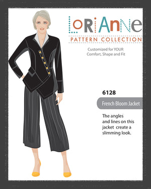 LORIANNE PATTERNS 6128 - FRENCH BLOOM JACKET (PRINTED)