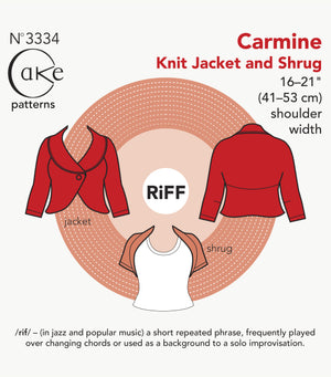 SEWING CAKE PATTERNS - CARMINE KNIT JACKET AND SHRUG (PAPER)