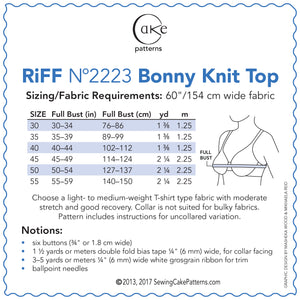 SEWING CAKE 2223 - BONNY SAILOR TOP (PRINTED)