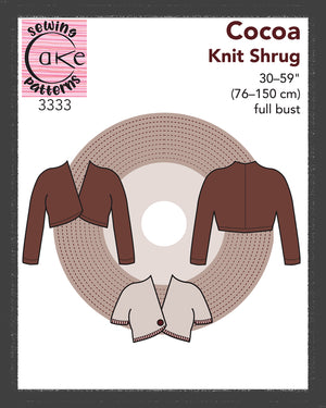 SEWING CAKE 3333 - COCOA KNIT SHRUG (PDF)