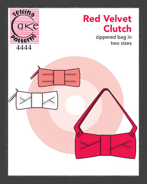 SEWING CAKE 4444 - RED VELVET CLUTCH (PRINTED)