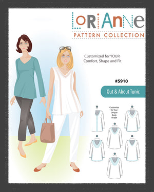 LORIANNE PATTERNS 5910 - OUT & ABOUT TUNIC (PRINTED)