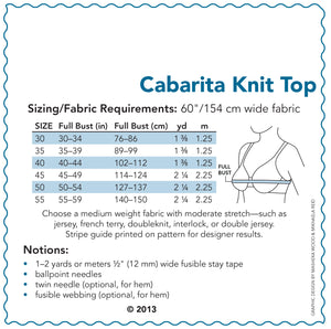 SEWING CAKE 2222 - CABARITA KNIT TOP (PRINTED)