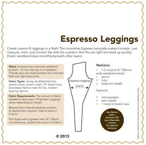 SEWING CAKE 5555 - ESPRESSO LEGGINGS (PDF)