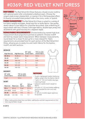 SEWING CAKE 0369 - RED VELVET KNIT DRESS (PDF)