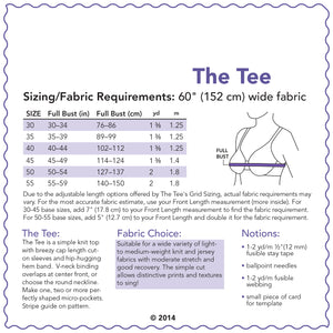SEWING CAKE 1001 - THE TEE (PDF)