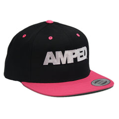 Power Snapback in Black/Neon Pink
